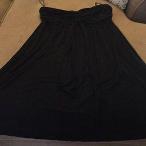 Express Strapless black dress